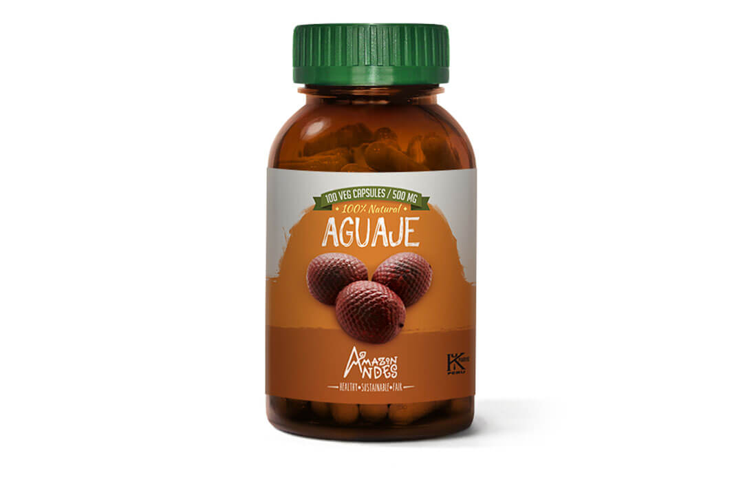 Aguaje capsules (100 x 400 mg) Kosher and Halal certified