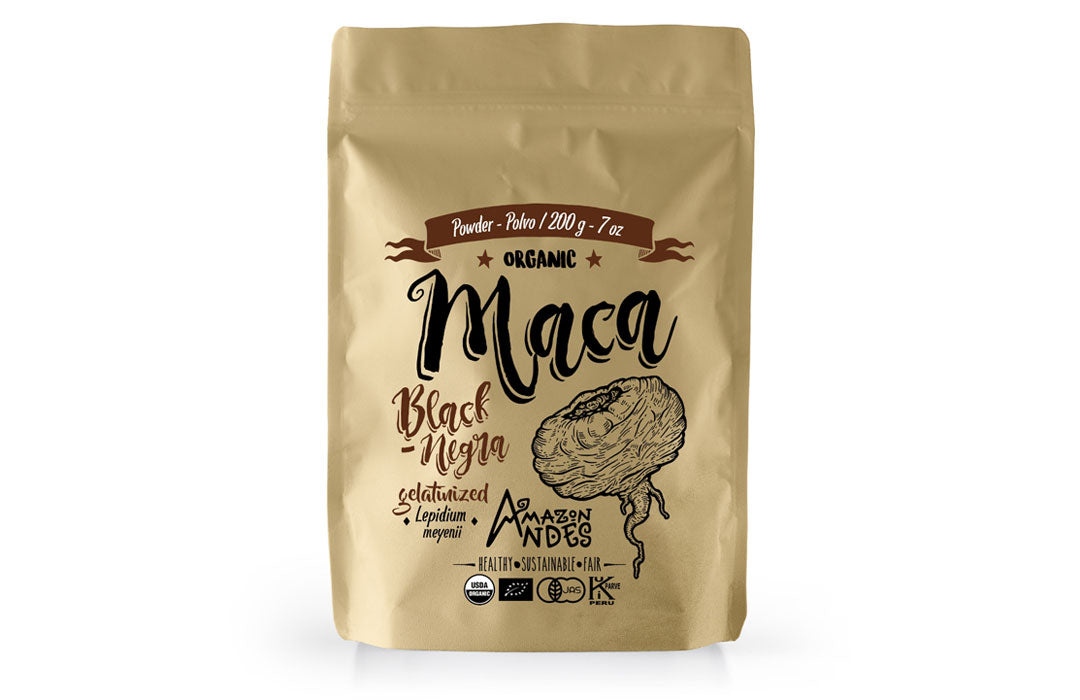 Black Maca Gelatinized Powder (200 g – 7 oz) USDA, NOP, JAS and kosher organic