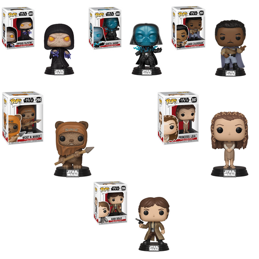 Funko Pop! Movies: Star Wars Return Of The Jedi Complete Set Of 6-Fumble Pop!