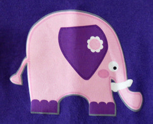 Ellie the elephant purple long sleeved t-shirt