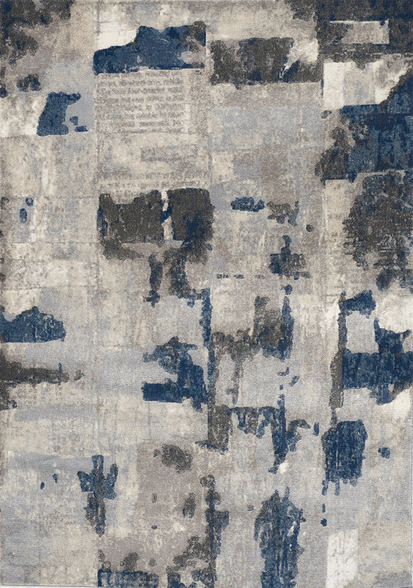 Alida Grey Blue Patches Rug