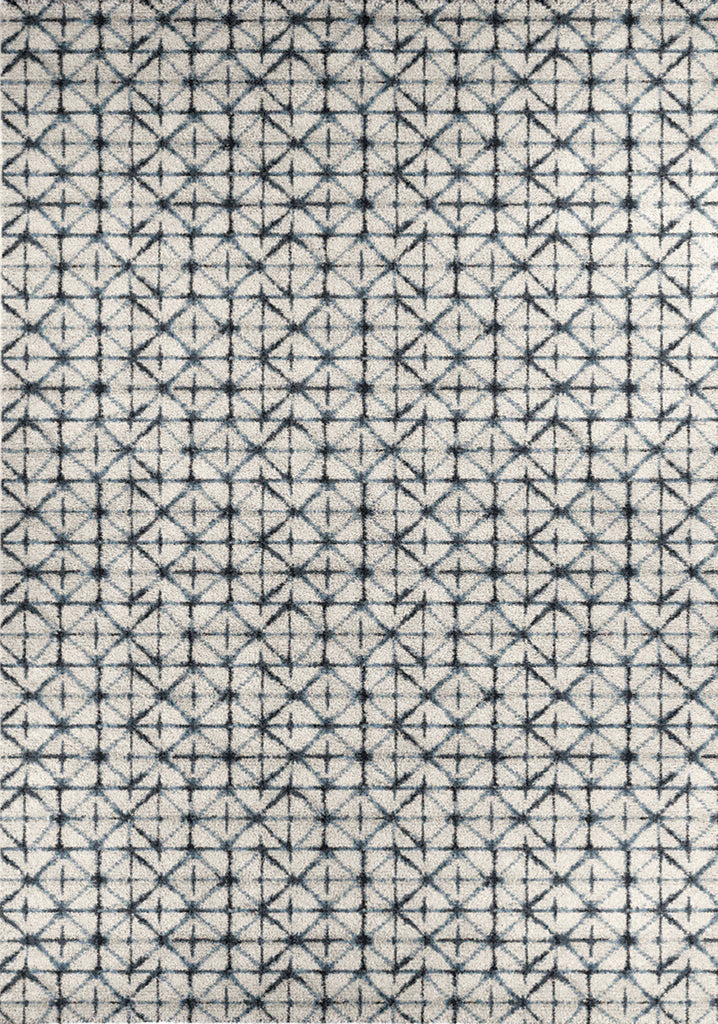 Ashbury Blue, White Quilt Rug
