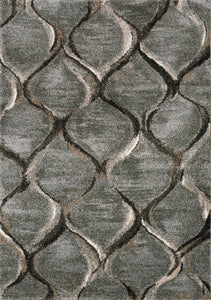 Breeze Grey Brown Blended Ogee Rug