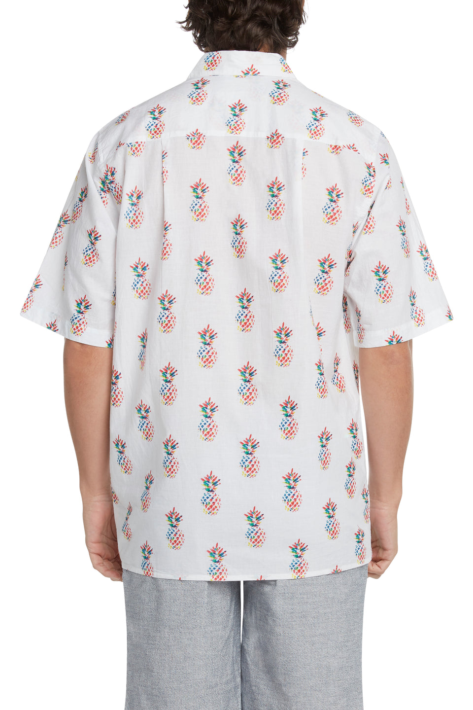 White Multi Pineapple Sympatiko Shirt