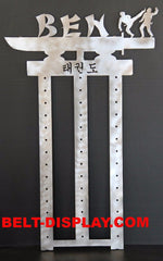 13 level Karate Belt Display Rack