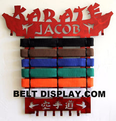 #1 Selling Karate Belt Display Personalized | Exclusive designs, Second to none | Belt-Display.com