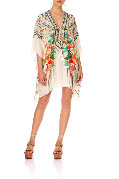 CAMILLA MS MAIKO SHORT LACE UP KAFTAN