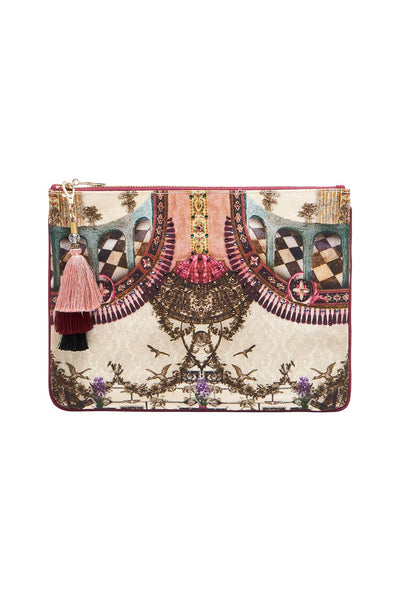 SMALL CANVAS CLUTCH VIOLET CITY
