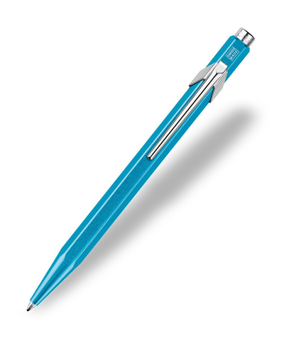 Caran d'Ache : Pop Line : Ballpoint pen and holder : Turquoise Metal X