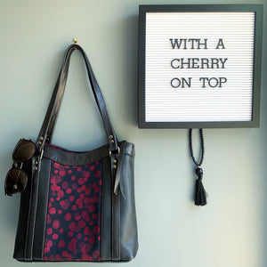 Black cherry Gracie tote