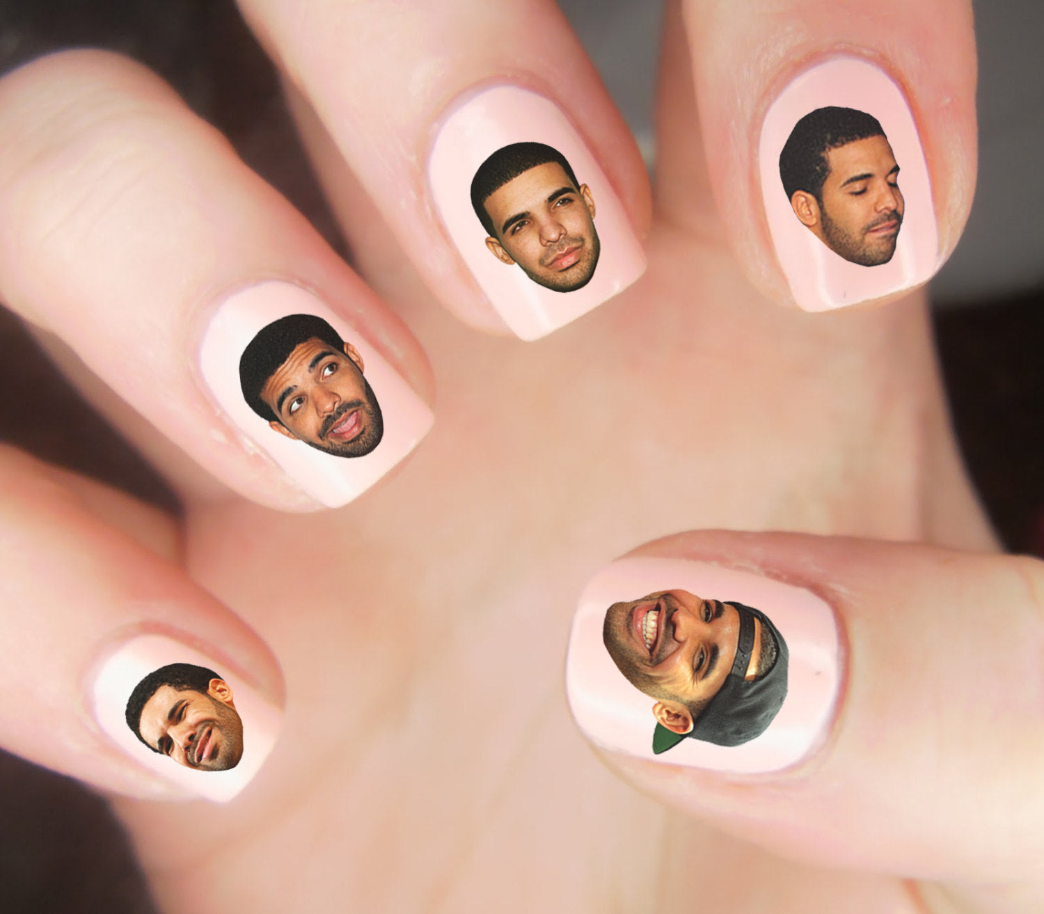 25 DRAKE HEADS Nail Decals Waterslide - Moon Goddess Market