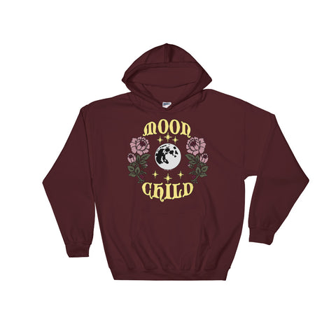 Moon Child Hooded Unisex Sweatshirt - Moon Goddess Market