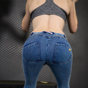 2018 Women Push Up Jeans Skinny Button Zipper Plus size clothing New Fashion Sexy Female Summer Autumn Winter Jeans Pencil Pants