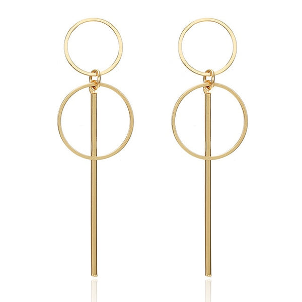 Fashion Statement Earrings 2018 Big Geometric earrings For Women Hanging Dangle Earrings Drop Earing modern Jewelry