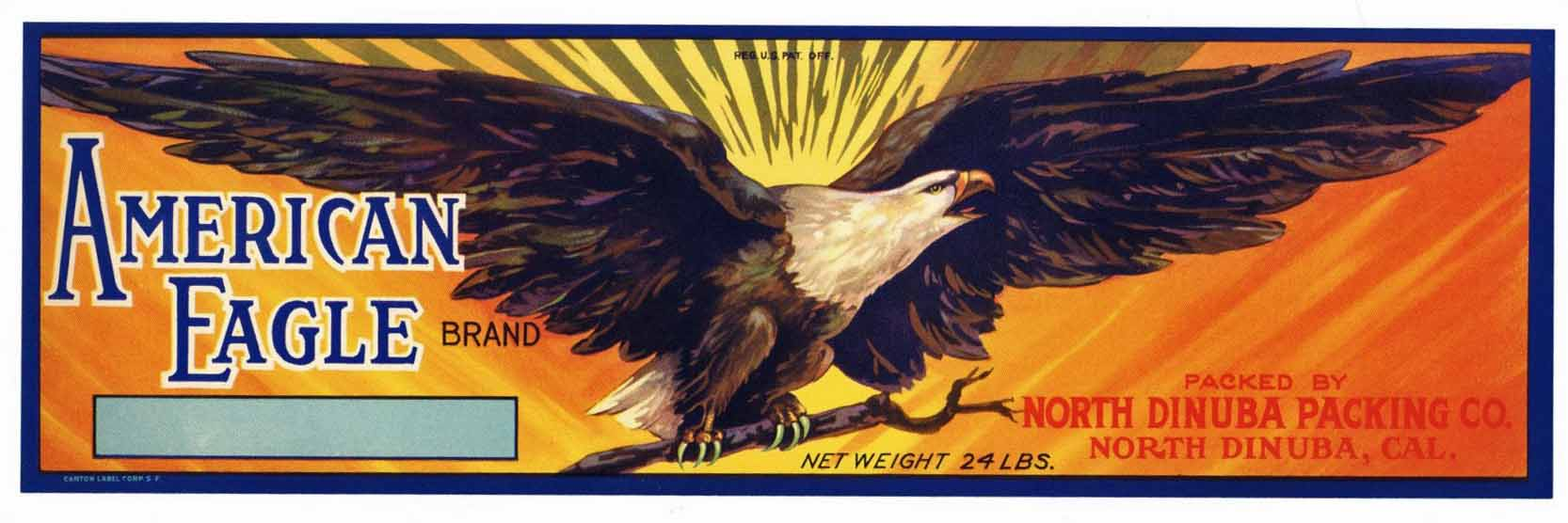 American Eagle Brand Vintage Fruit Crate Label