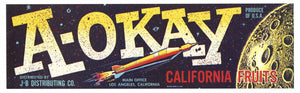 A-Okay Brand Vintage Fruit Crate Label