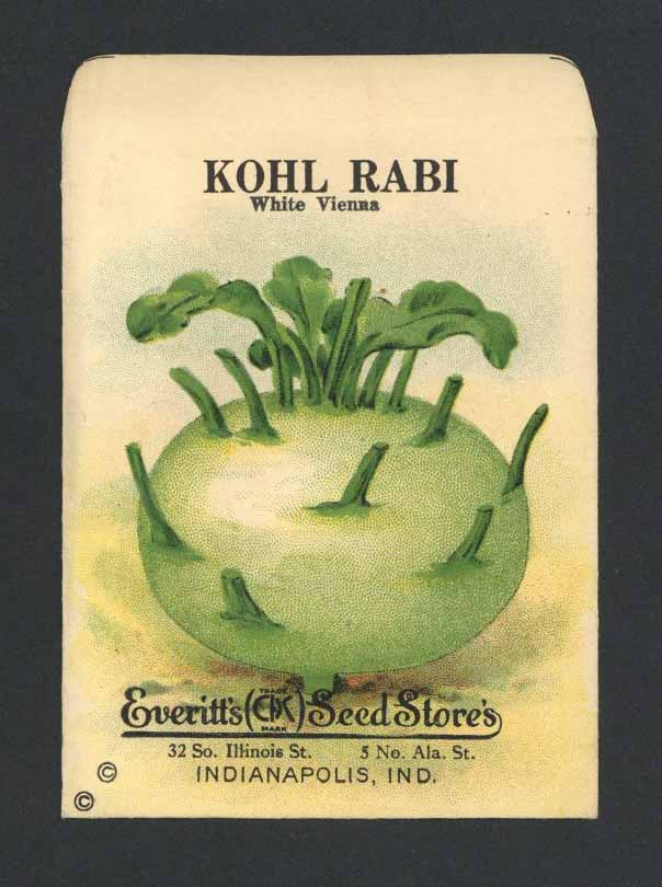 Kohl Rabi Antique Everitt's Seed Packet