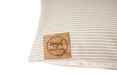 Simple Stripes Dog Bed Cover