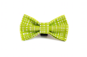 Lime Green Crossed Bowtie