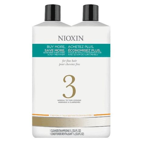 Nioxin System 3 Cleanser & Scalp Therapy Liter Duo by Nioxin