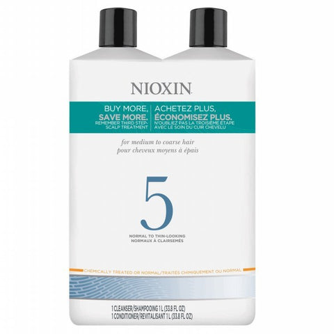 Nioxin System 5 Cleanser & Scalp Therapy Liter Duo by Nioxin