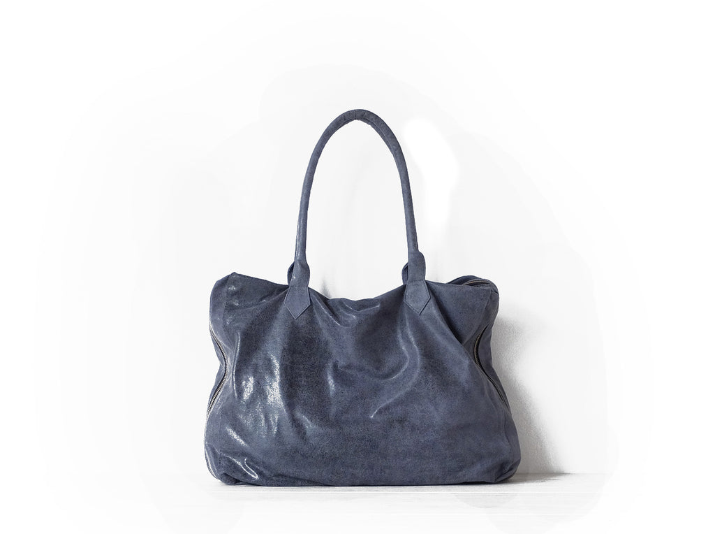 Ninette | Denim - Vive Ninette | One of a kind leather handbags