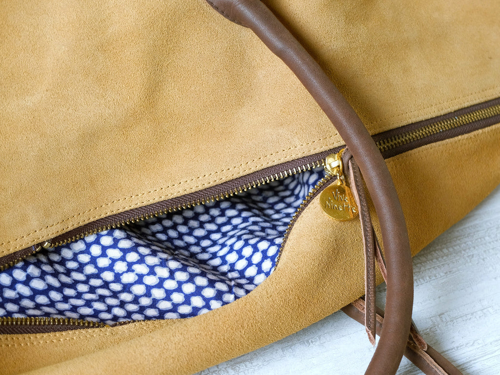 Weekender | Brown - Vive Ninette | One of a kind leather handbags