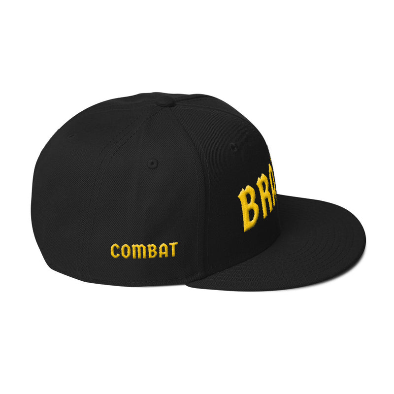 Combat Legend Brazil Yellow on Black 3D Puff Snapback 2