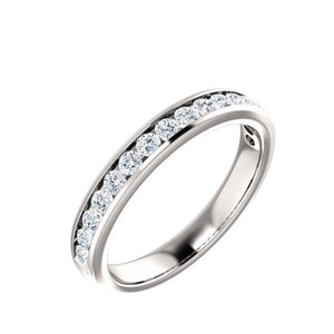 14k Gold 1 Carat Channel Set Diamond Anniversary Band - Talisman Collection