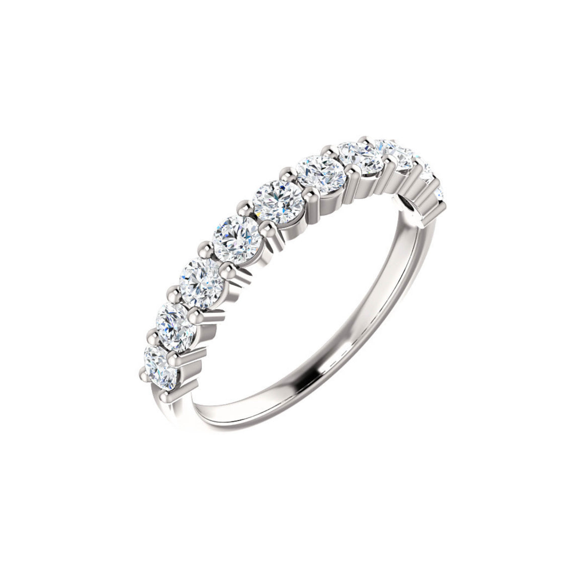 14k Gold 1 Carat Diamond Anniversary Band - Talisman Collection