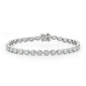 18k White Gold Bezel Diamond Tennis Bracelet - Talisman Collection