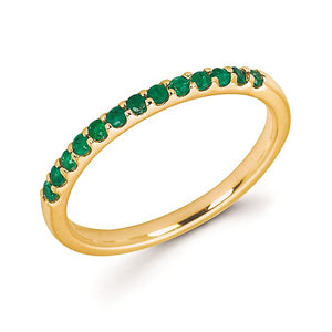 14k Gold and Emerald Ring - Talisman Collection