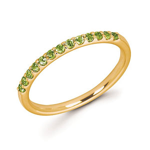 14k Gold and Peridot Ring - Talisman Collection