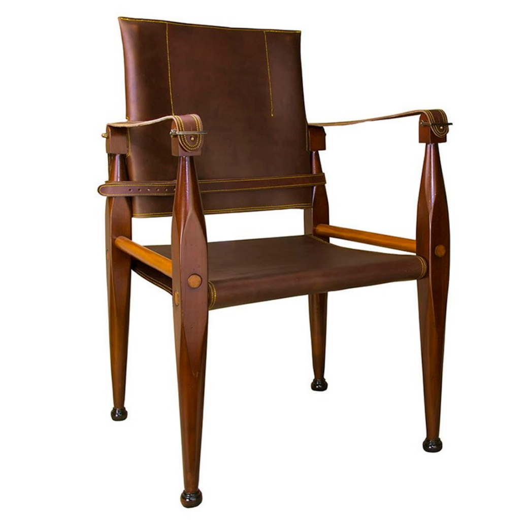 Authentic Models Bridle Leather Campaign Chair - Talisman Collection
