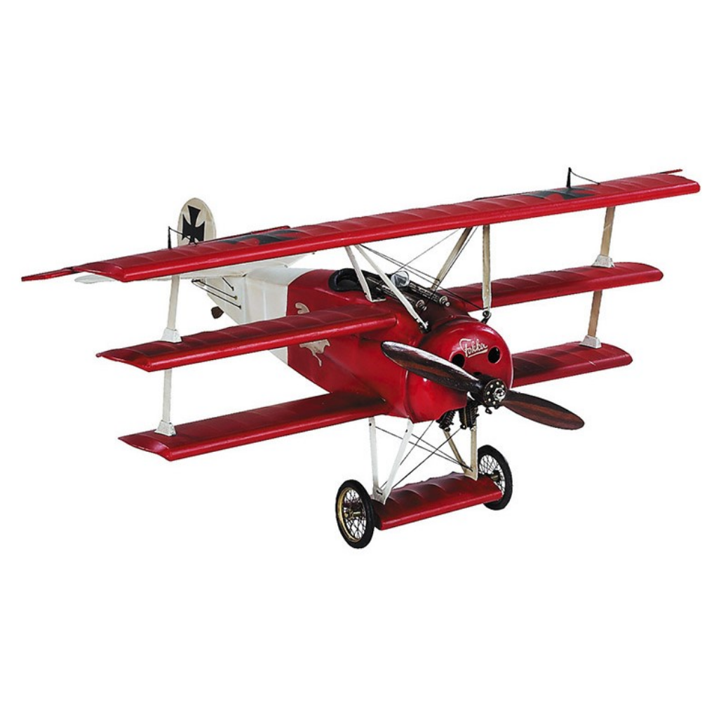 Authentic Models Fokker Triplane Desktop Model Plane - Talisman Collection