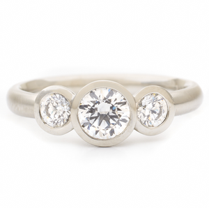 Anne Sportun Trinity Engagement Ring - Talisman Collection