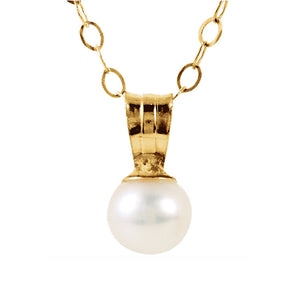 14k Gold Pearl Drop Necklace - Talisman Collection