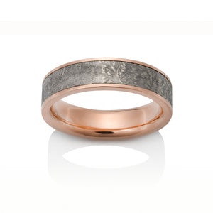 Chris Ploof 14k Red Gold Sirius Meteorite Ring