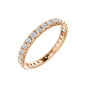 14k Gold 7/8 Carat French Set Diamond Eternity Band - Talisman Collection