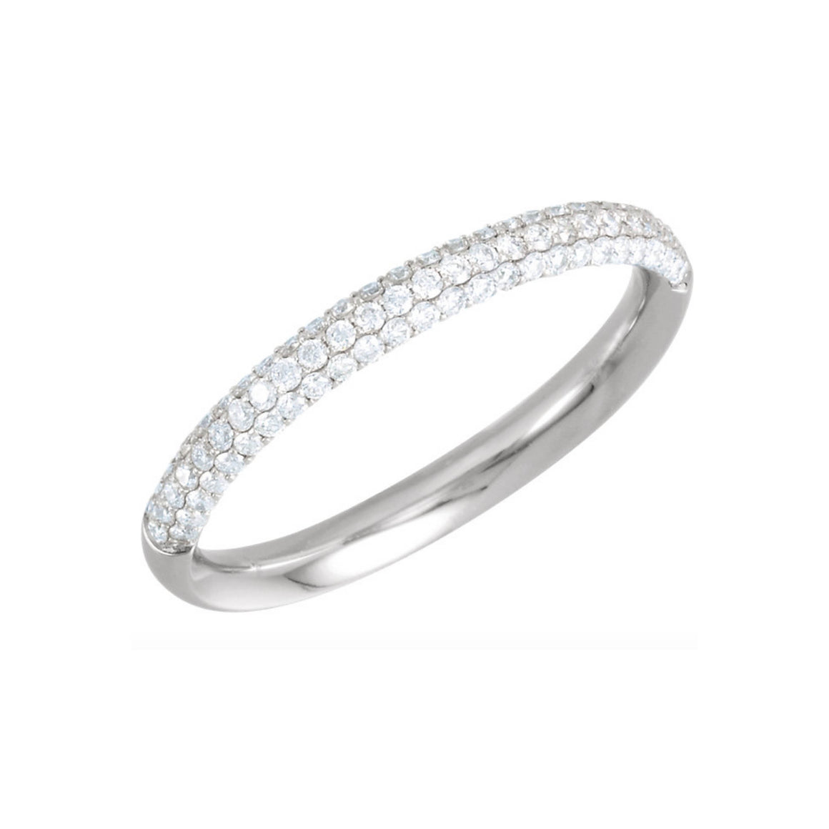 14k Gold Pave Diamond Anniversary Band - Talisman Collection