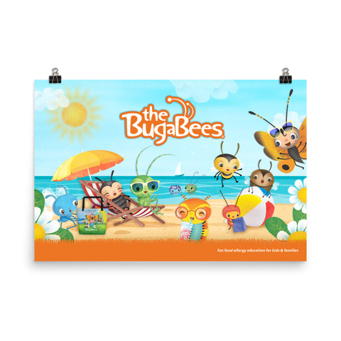The BugaBees Beach Poster - Large