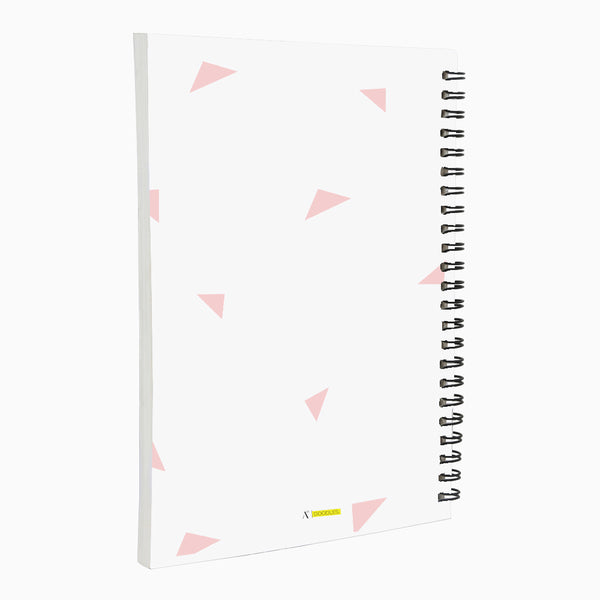 Oh Happy Day A5 Wiro Notebook  160 Pages (Pink)