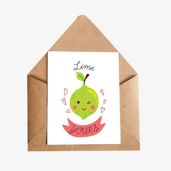 Lime Yours Greeting Card