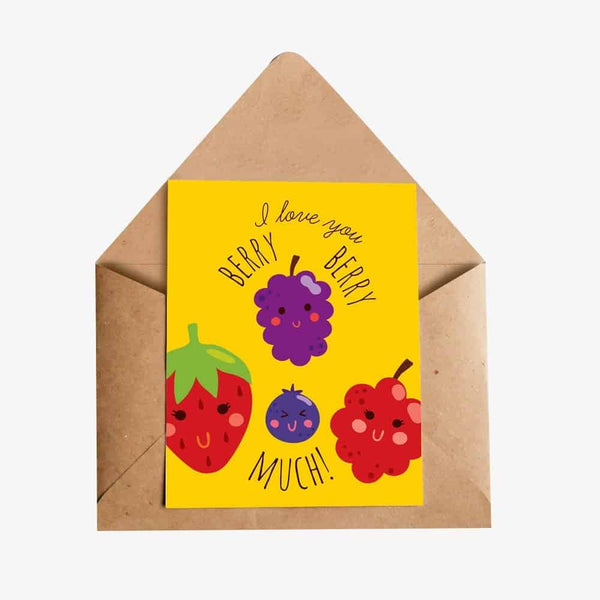 I love You Berry Berry Much Greeting Card