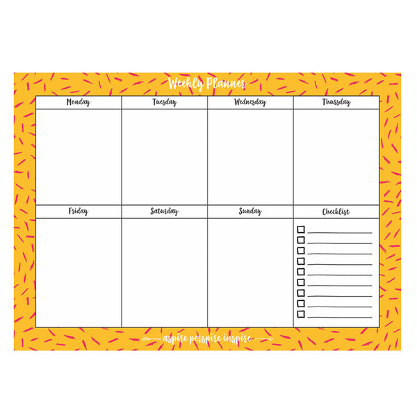 weekly planner pad a4 in India Online