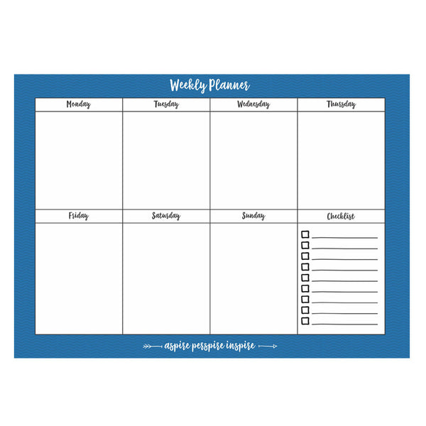 Weekly Planner Pad 8 Alternating Patterns 80 Pages A4 Size