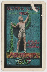 Fredric March + Maurice Chevalier 1932 PG Wenger LA Olympics Playing Card