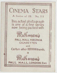 Norma Shearer 1925 Rothmans Cinema Stars Tobacco Card #11