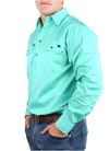 King River | Work Shirt | HALF Button | Mint - BK8 Outfitters Australia