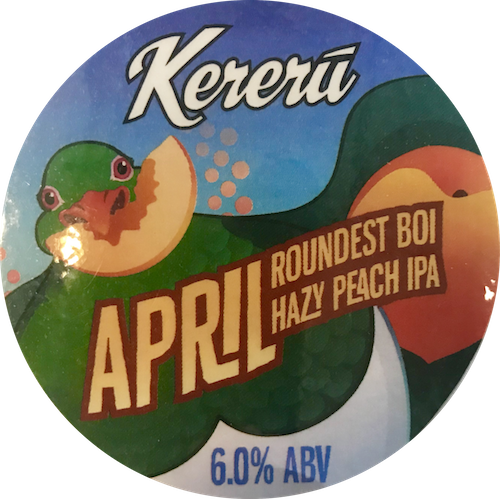 Kereru Roundest Boi Hazy Peach IPA 6% Growler 1L - Bottle Stop